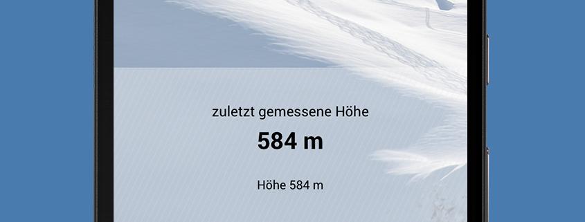 Lawine Tirol Höhenmesser